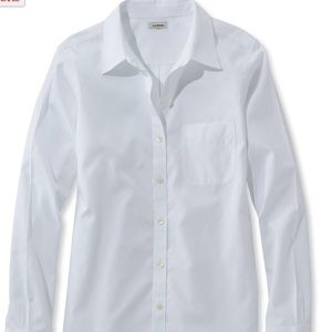 Women's white oxford shirt by Lands' End